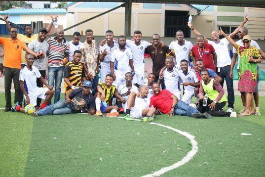 The Wakanow team with Mr. Muyiwa
