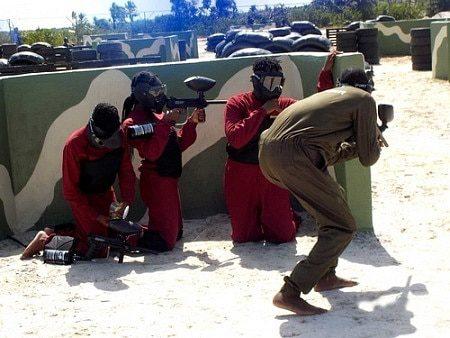 Paintballing at Omu Resort