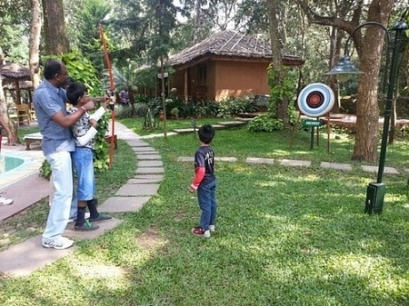 Archery at Omu Resort