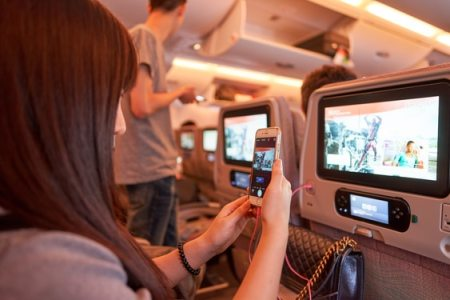 ICE entertainment system - Emirates A380