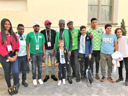 Russia 2018 tourists with the Nigerian Ambassador to Russia