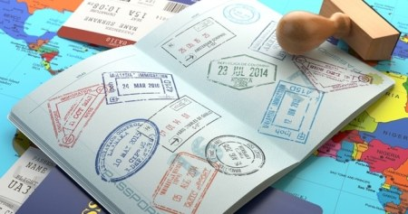 Passport with visas