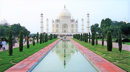 Landscape view of the Taj Mahal