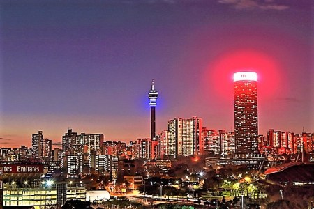 Night skyline of Johannesburg - 10 most-asked travel questions