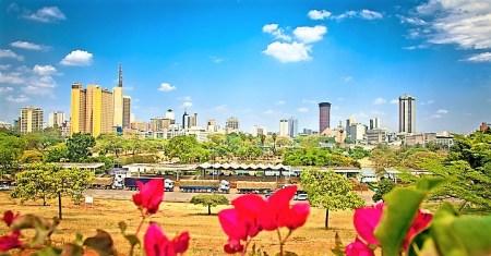 Panoramic view on Nairobi , Kenya. Africa
