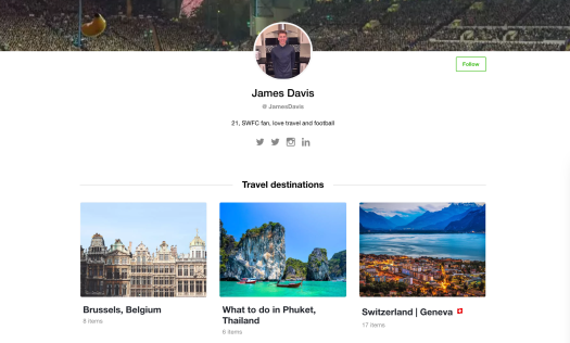 Wakelet travel curation example
