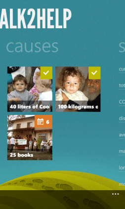 Walk2Help for Windows Phone 7 Causes Screen