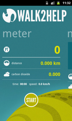 Meter page on Android