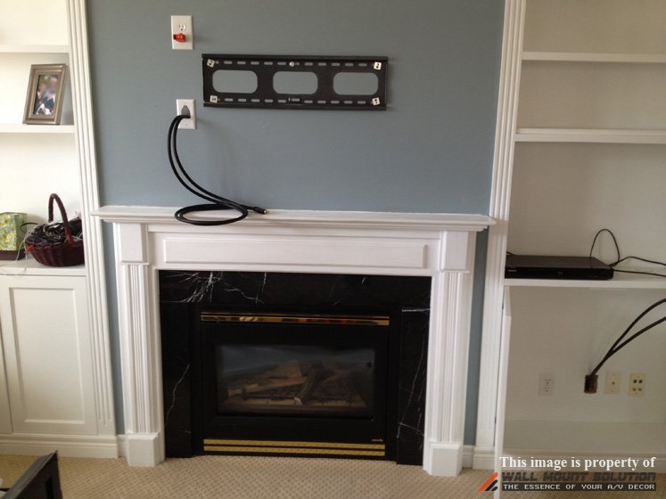 Fireplace Mounting Tv Fireplace Brick Wall Mount Over Hide Tv Wall Mount Installation With Wire Concealment Over