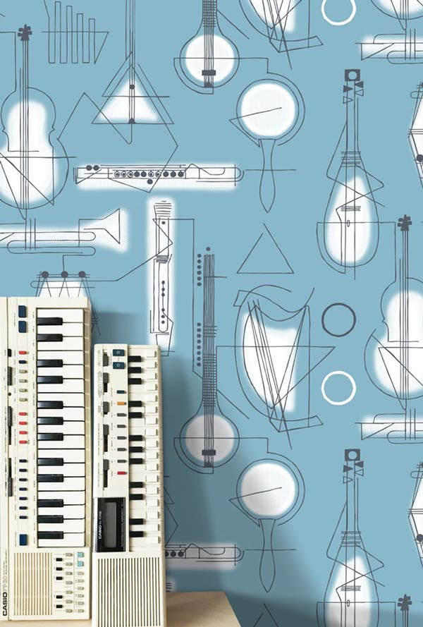 Concert wallpaper by Mini Moderns – Chalkhill Blue at wallpaperdirect