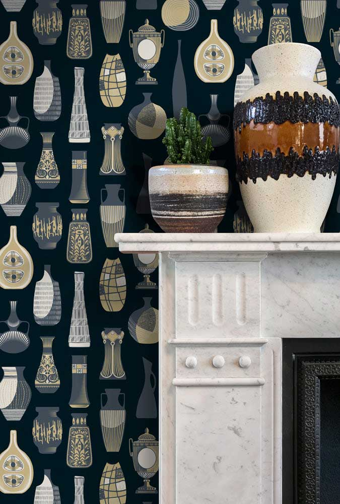 Mini Modern's Vessel wallpaper – Midnight at wallpaperdirect