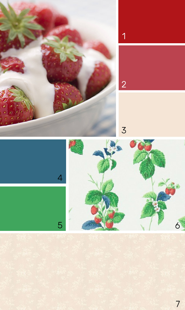 Strawberries and Cream paint colours
