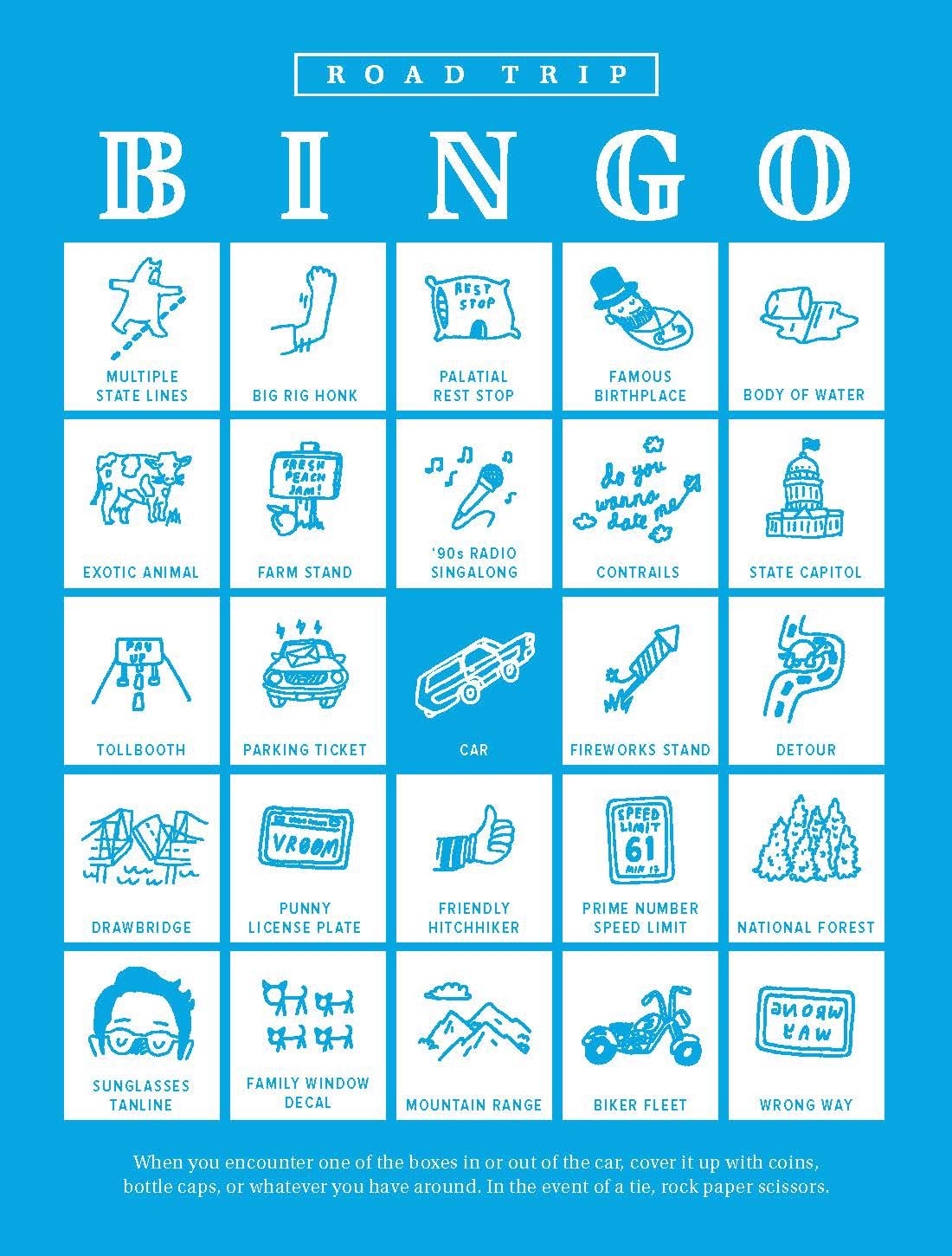 To Do Play Road Trip Bingowarby Parker