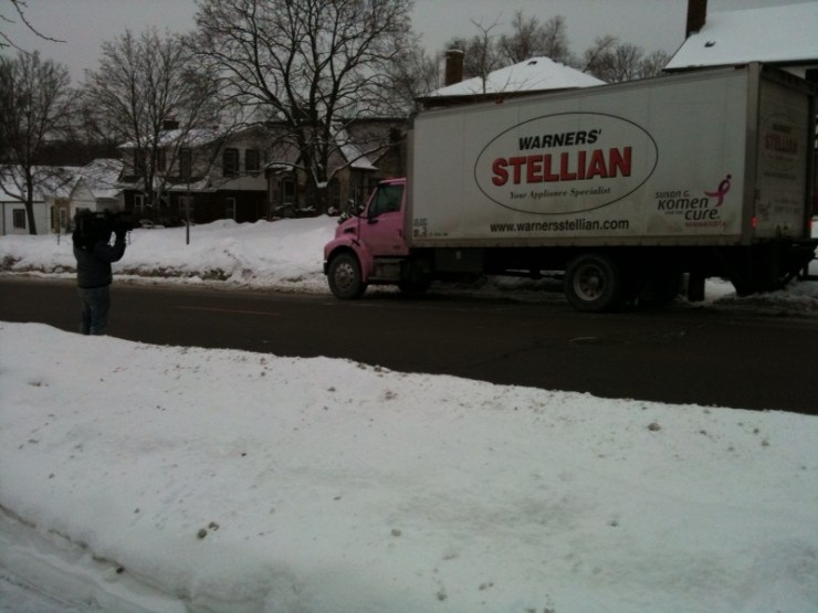 Warners' Stellian delivery truck
