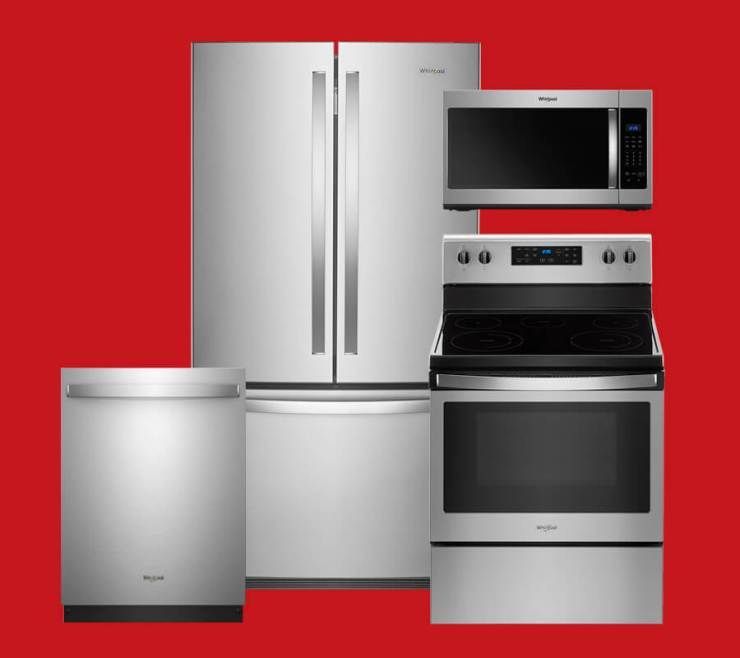 Stainless Steel Whirlpool Kitchen Package