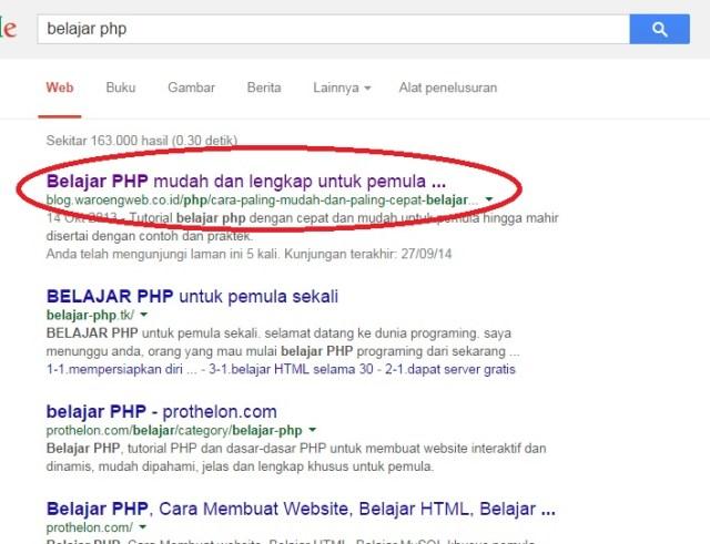 Tips Seo Cara Membuat Artikel Anda Muncul Di Halaman Pertama Google Waroengweb Blog