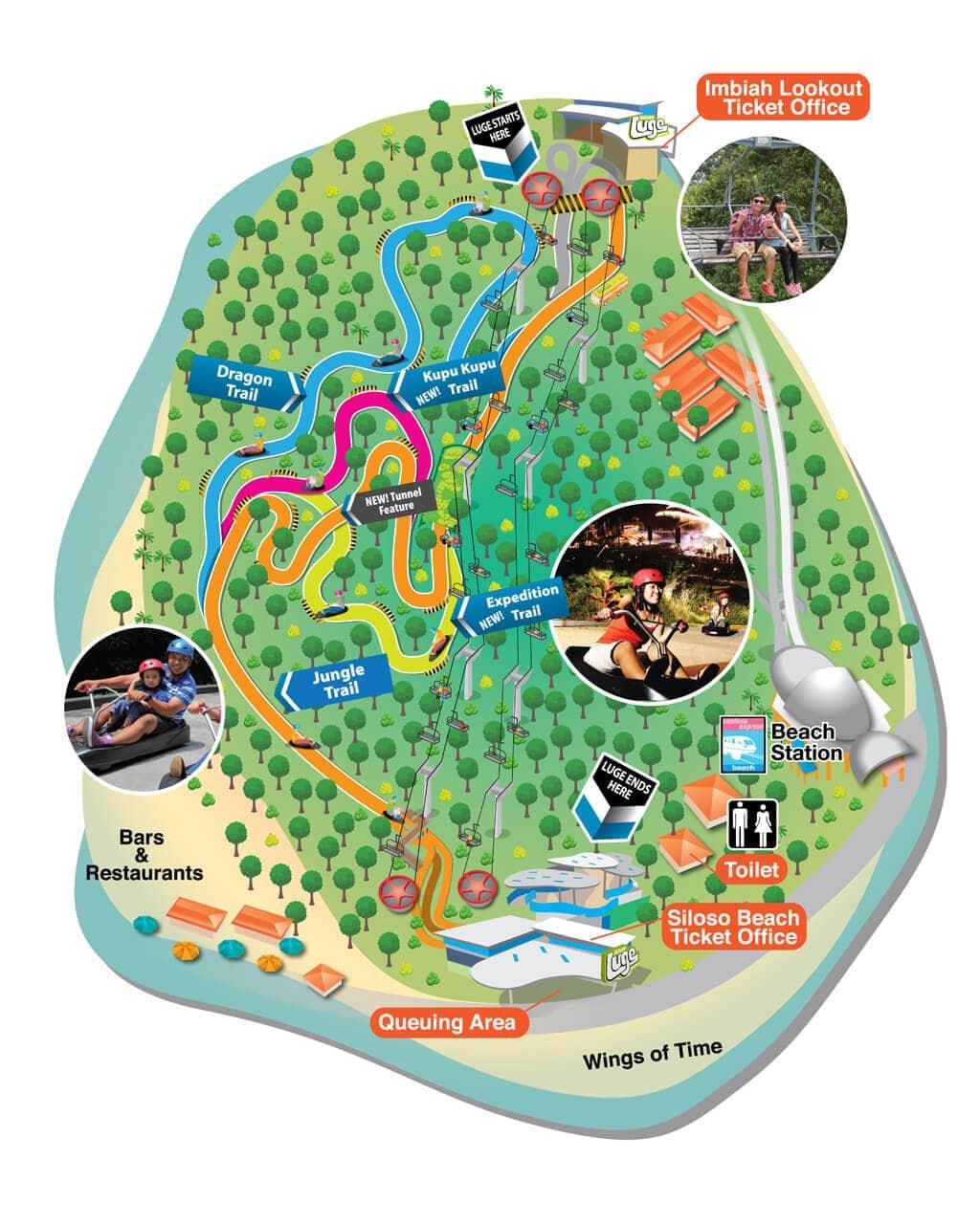 sentosa-luge-map