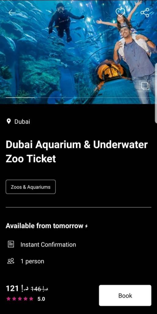 dubai aquarium & underwater zoo review