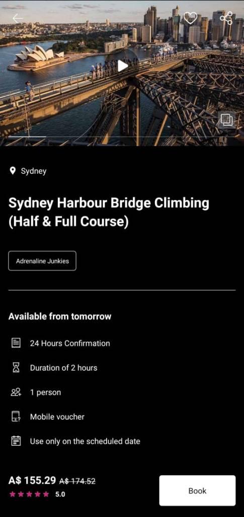 bridgeclimb sydney waug