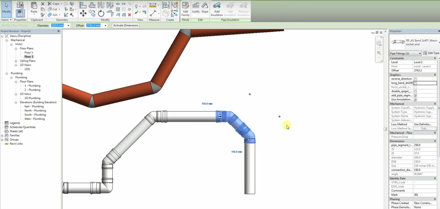 Revit Pipe Fitting Families - Ronniebrownlifesystems