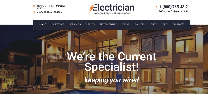 Electrician WordPress Themes