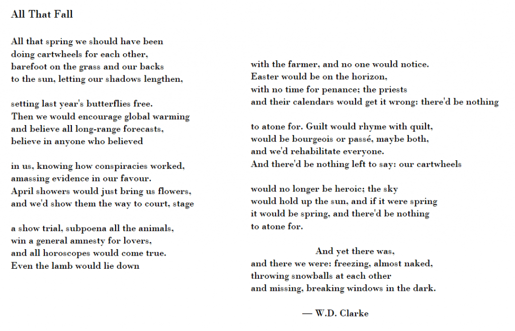 All That Fall - a poem by W.D. Clarke