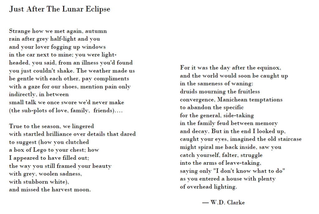 WD Clarke poem