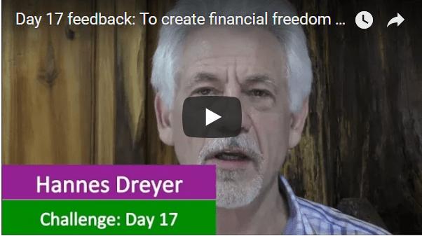 [Day 17] Feedback: To Create Financial Freedom Is Easy…