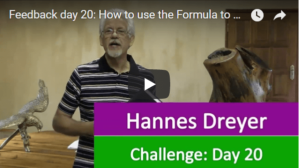 [Day 20] How To Use The Formula To Develop Entrepreneurs And Investors