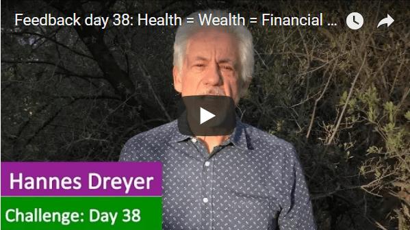 [Day 38] Health = Wealth = Financial Freedom