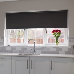 Grey Kitchen Blinds Sears Appliance Bundles How A Neutral Blind Can Perfectly Finish Off Any Room Web Dark Roller