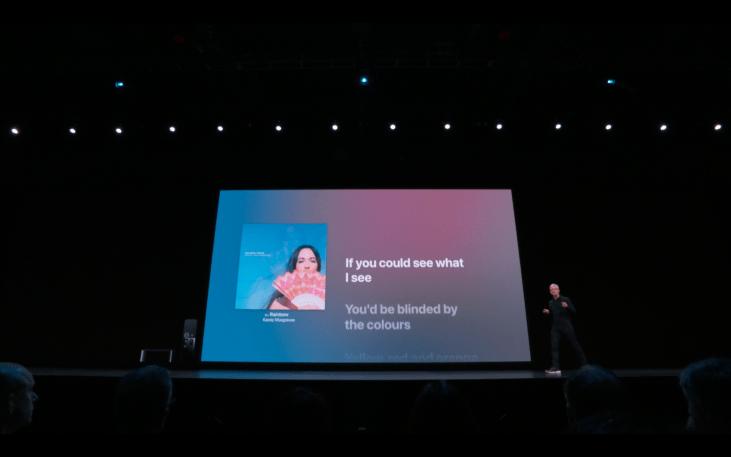 WWDC19 - tvOS - Apple Music - Lyrics