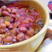 Mom's Savory Pork 'n' Beans #SundaySupper