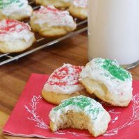 Frosted Ricotta Cookies #TwelveDaysofSanta