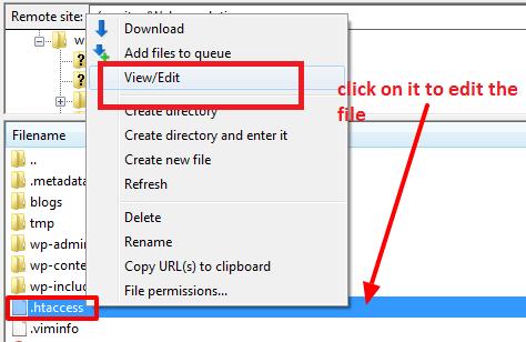 .htaccess file in WordPress