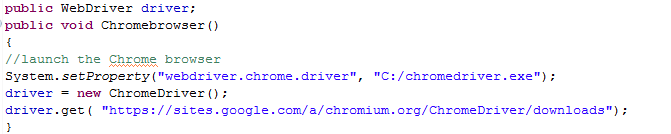 Selenium WebDriver with Chrome browser