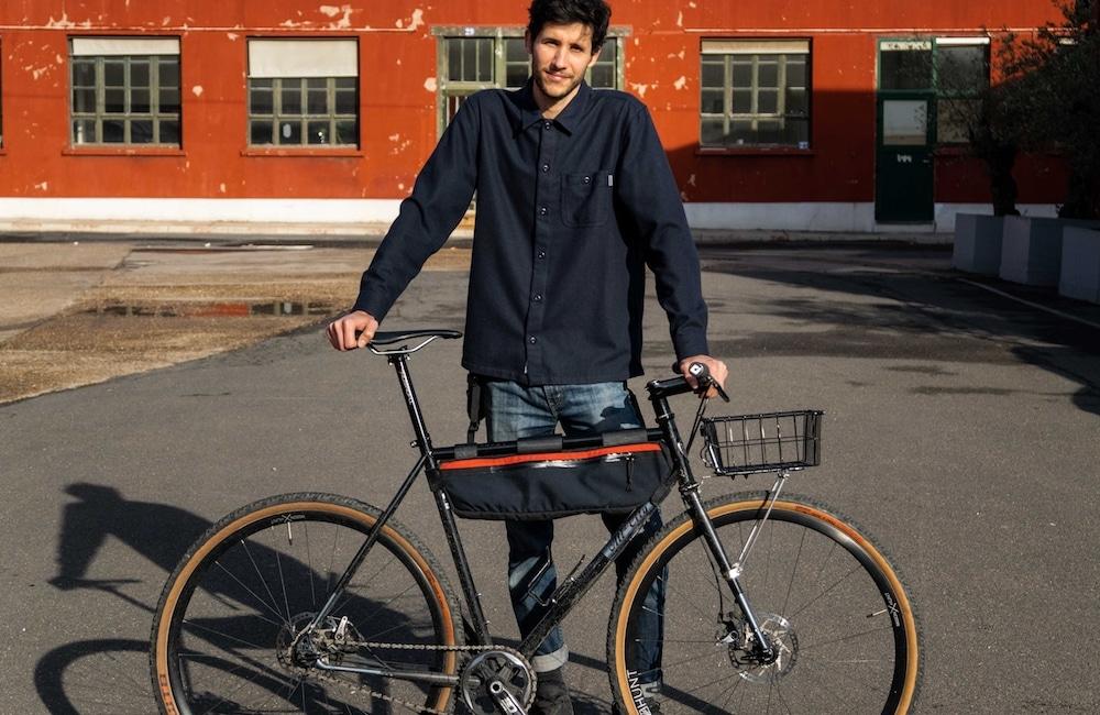 idée cadeau fête des pères fait main sacoche vélo