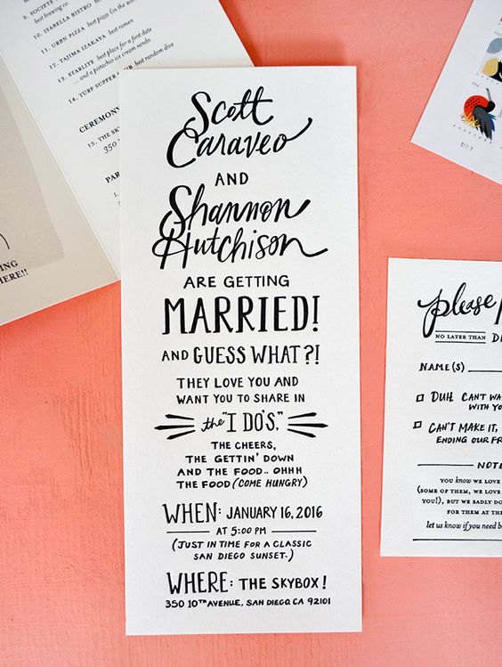 Wedding Invitation Wording Examples Formal Informal And Fun