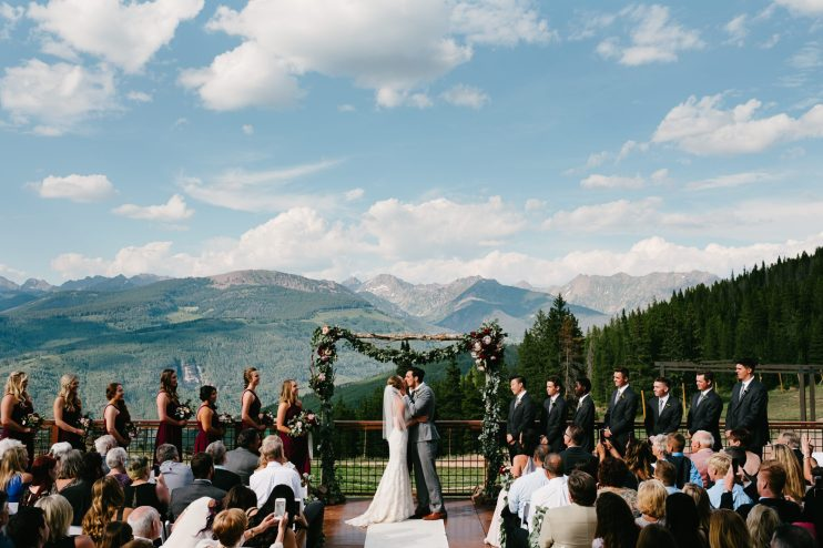 Best Denver Wedding Venue with adorable couple featured! Mountain Wedding views!