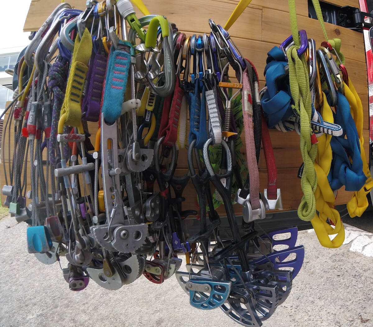 what climbing gear fits in the
