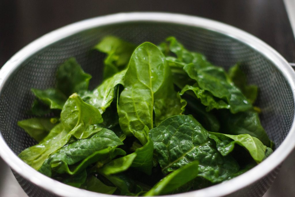 spinach as vegetables low in carbs