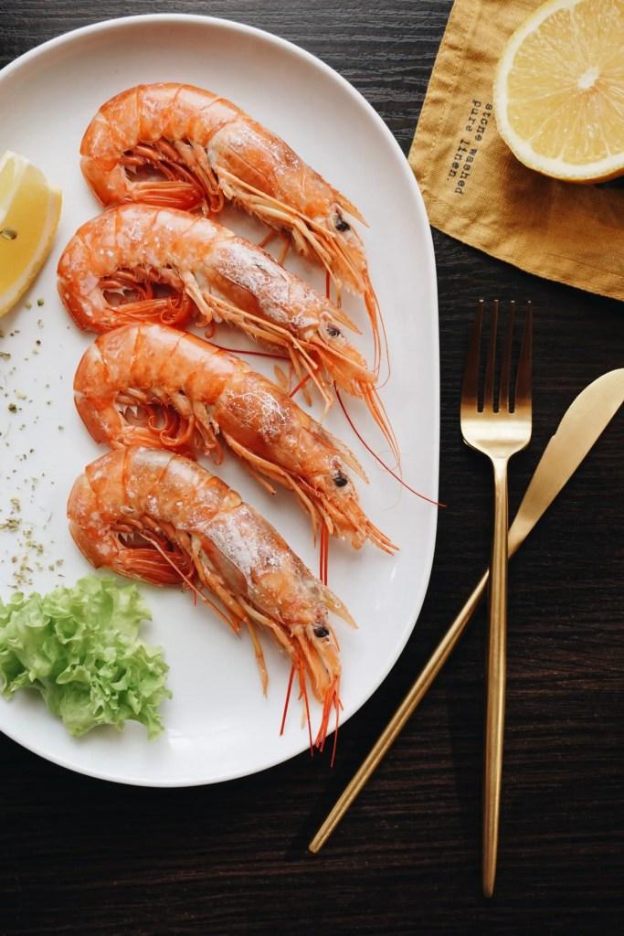 shrimps and lemon