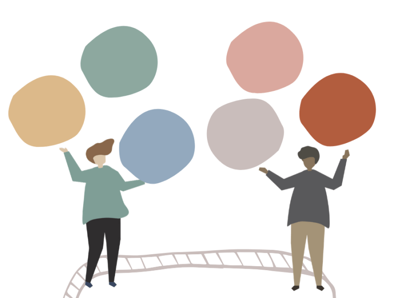 People juggling ideas concept illustration