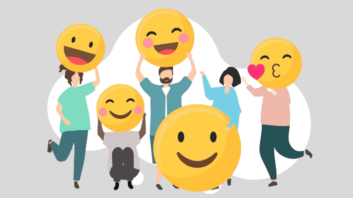 people with happy emoji