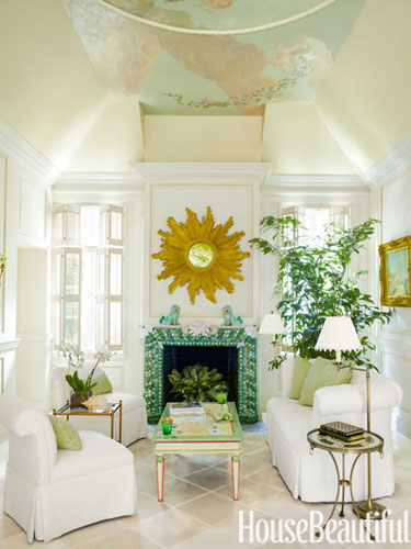 From House Beautiful - a Palm Beach Maisonette's Living Room, Decorated by Mimi McMakin