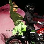 Rihanna Rides Into New York Fashion Week Like a Rock Star