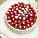 A berry tart in under an hour, using a olive-oil cake base