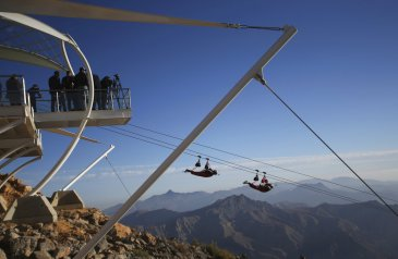 Jetset: United Arab Emirates opens world's longest zip line