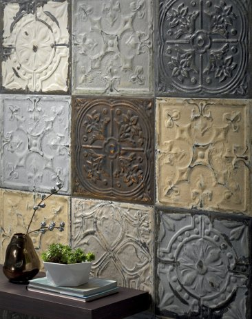 RIGHT AT HOME: Fashion-forward tile for walls and floors