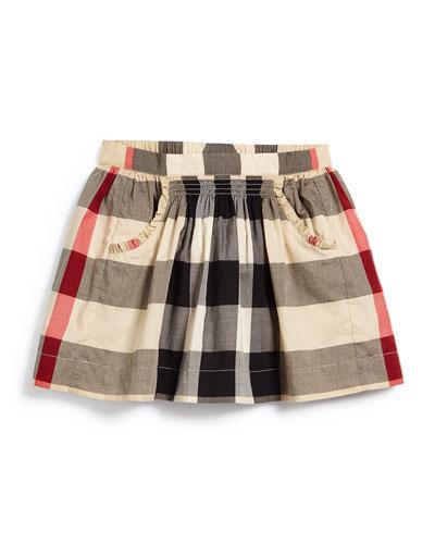 Burberry-Kayly-Check-Print-Skirt-Taupe